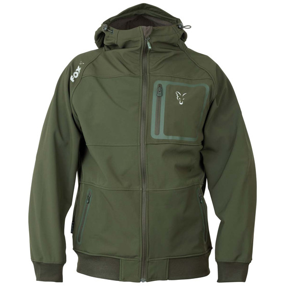 Fox Fox Collection Green & Silver Shell Hoodie